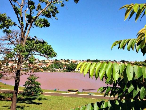 Parque das Nações indígenas, em Campo Grande, neste domingo (16) (Foto: Leandro Oliveira/ TV Morena)