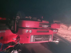 Motorista de caminhão morreu em acidente na BR-222 no MA (Foto: PRF)