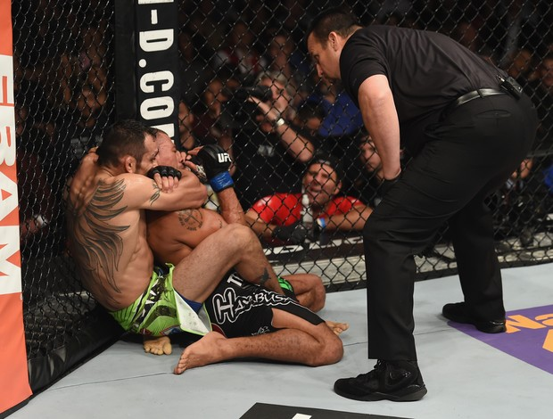 Tony Ferguson x Abel Trujillo, UFC 181 (Foto: Getty Images)