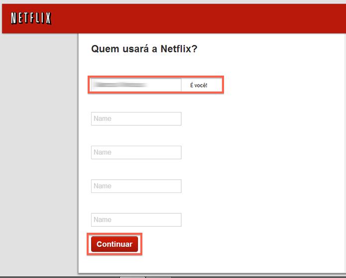 Criando perfis do Netflix antes de iniciar a utilização do serviço (Foto: Reprodução/Marvin Costa)