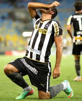 Ferreyra comemoração jogo Botafogo e Independiente del Valle (Foto: AP)