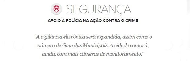 Meta de segurança do prefeito de Belo Horizonte, Marcio Lacerda (Foto: Arte/G1)
