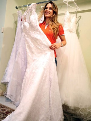 Camila Brait Vestido de Noiva (Foto: Marcos Ribolli)