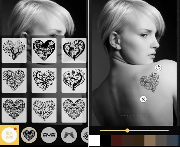 Tattoo me Camera não tem microtransações nem anúncios durante o uso (Foto: Reprodução/Felipe Demartini)