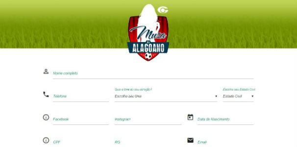 Ficha de inscrição  (Foto: Divulgação/ Marketing TV Gazeta)