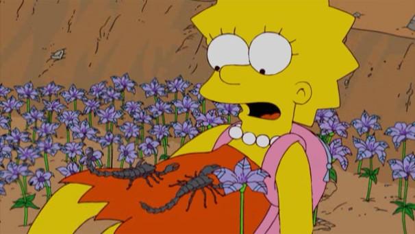 Os Simpsons - Lisa encontra flor no deserto que tranquiliza escorpiões agressivos (Foto: Divulgação / Twentieth Century Fox)