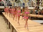 Ensaio na passarela marca manhã das candidatas ao Garota Verão 2014