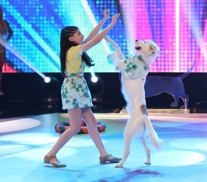 Luana e Guli mostraram parceria no programa (Foto: Carol Caminha/Gshow)