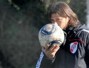 Matías Almeyda comanda treino do River Plate