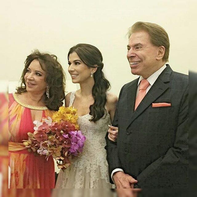 Iris Abravanel, Renata Abravanel e Silvio Santos (Foto: Reprodução/Instagram)