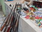 PM apreende mais de mil munições e 10 armas ilegais no Sul do Piauí