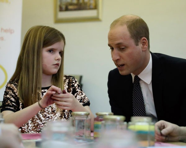 Príncipe William e Aoife, de 9 anos (Foto: Getty Images)
