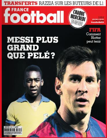 France Football questiona se Messi é maior que Pelé