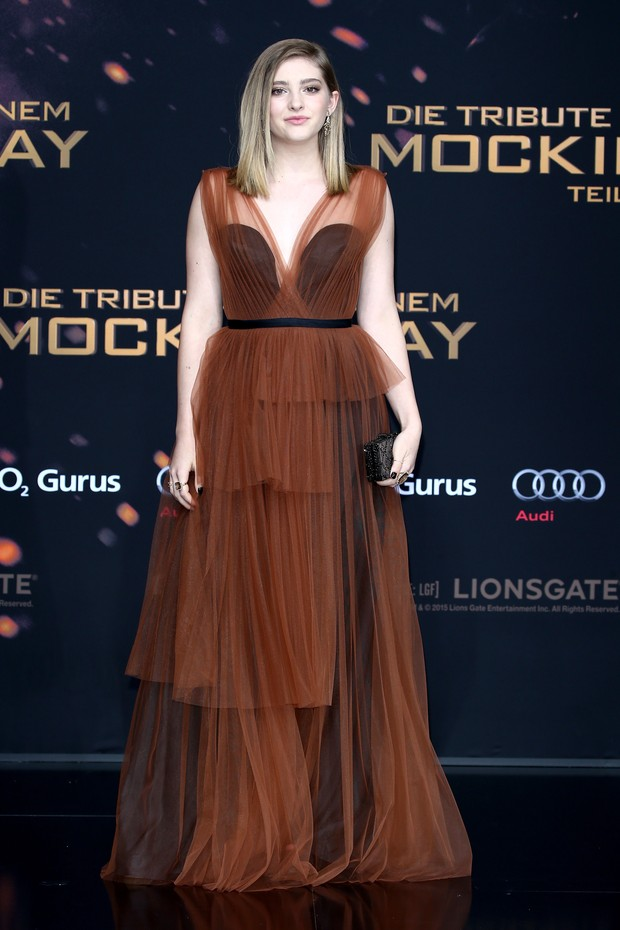 Willow Shields na pré-estreia de Jogos Vorazes: A Esperança - Parte 2, em Berlim (Foto: Getty Imagem)