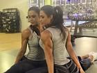 Gracyanne Barbosa mostra elasticidade e bumbum avantajado
