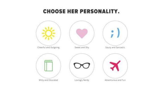 O Invisible Girlfriend disponibiliza reduz a personalidade feminina a seis tipos. (Foto: BBC)