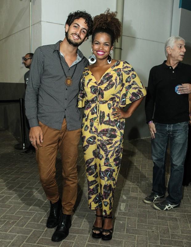 Jennifer Nascimento e Jean Amorim (Foto: Marcello Sá Barretto/AgNews)