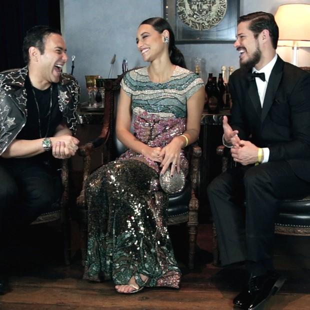 Matheus Mazzafera com Debora Nascimento e José Loreto (Foto: Reprodução)