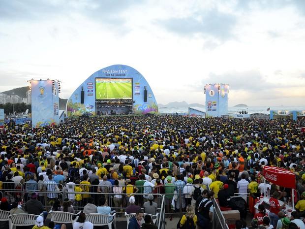 A arena Fifa Fan Fest foi visitada por mais de 800 mil pessoas em 25 dias de Copa (Foto: Divulgação/Alexandre Macieira/Riotur)