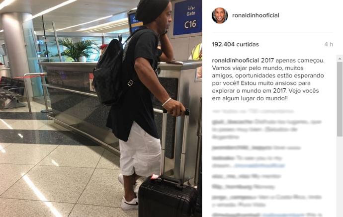 Ronaldinho Gaúcho, Coritiba (Foto: Reprodução/Instagram)
