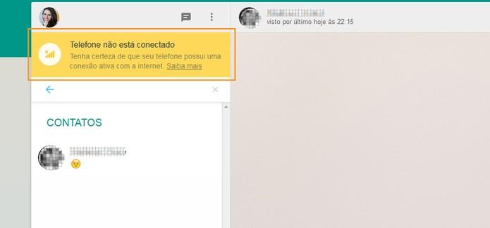 Problemas para conectar no WhatsApp Web; veja como resolver (Foto: Reprodução/Barbara Mannara)