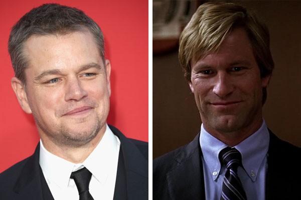 Matt Damon e Aaron Eckhart como Harvey Dent/Duas-Caras em Batman: O Cavaleiro das Trevas (2008) (Foto: Getty Images/Reprodução)