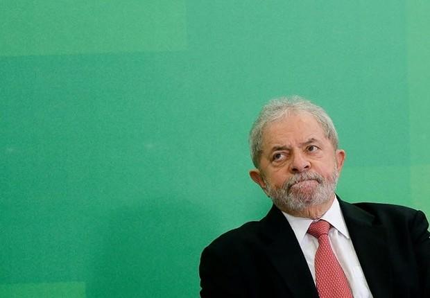 O ex-presidente Luiz Inácio Lula da Silva na cerimônia de posse em Brasília (Foto: José Cruz/Agência Brasil)