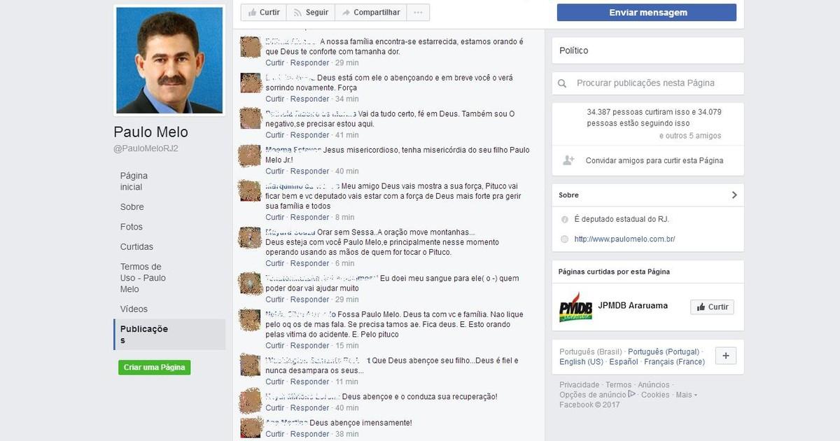 Internautas fazem corrente de oração para o filho do deputado Paulo Melo