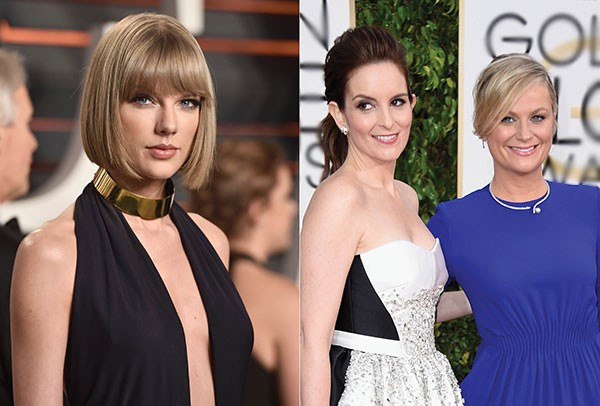 Taylor Swift, Tina Fey e Amy Poehler (Foto: Getty Images)