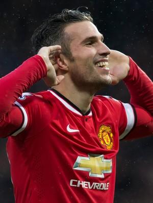 van persie Manchester United x Liverpool (Foto: AP)