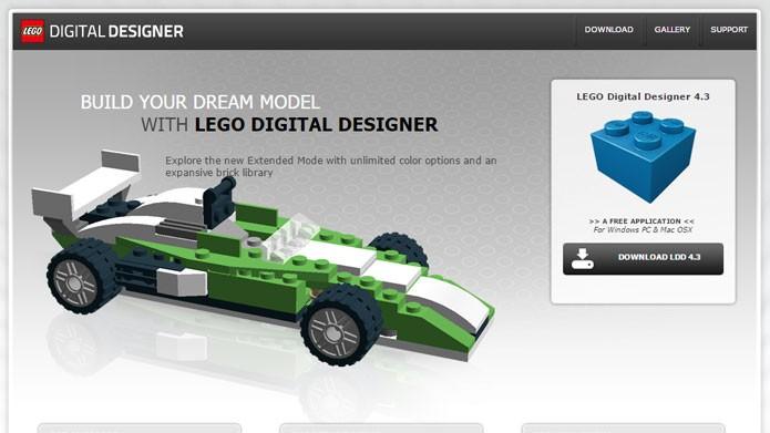 Baixe o Lego Digital Designer para criar conteúdo exclusivo (Foto: Reprodução/Tais Carvalho)