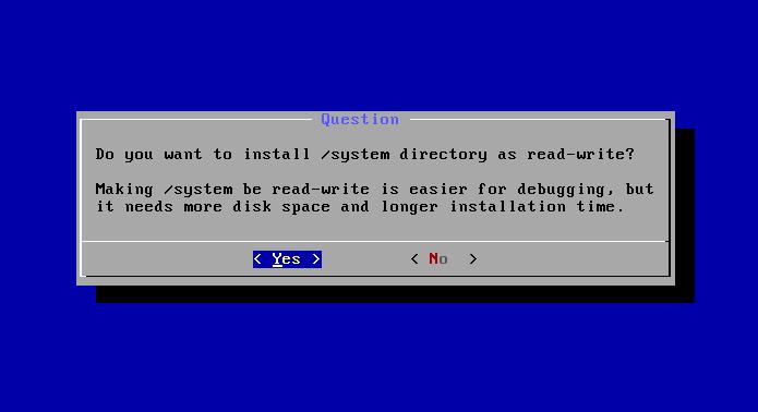 Colocando diretório do sistema como leitura e gravação (Foto: Reprodução/Edivaldo Brito)