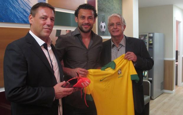 Fred, Celso Barros e Francisco Gonzalez Fluminense (Foto: Fred Gomes)