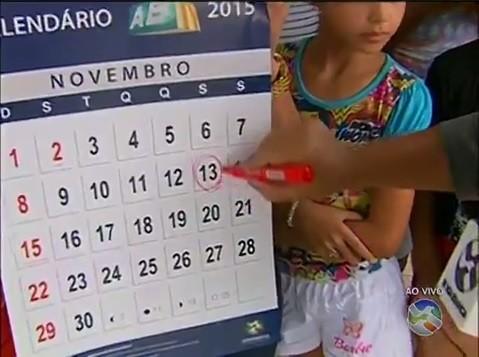 Calendário simboliza o cumprimento dos prazos (Foto: Reprodução / TV Asa Branca)