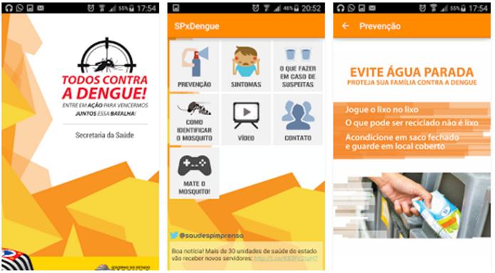 O estado de São Paulo, o mais populoso do Brasil, também possui um app dedicado à essa guerra (Foto: Divulgação/Google Play)
