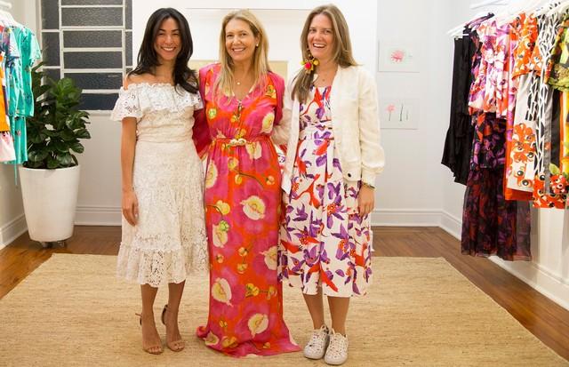 Donata Meirelles e as fundadoras da Isolda: Juliana Affonso Ferreira e Maya Pope  (Foto: Pablo Escajado)