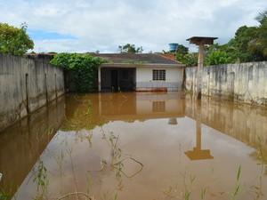 Moradores reclamam de possível focos de dengue no terreno alagado (Foto: Roger Henrique/G1)