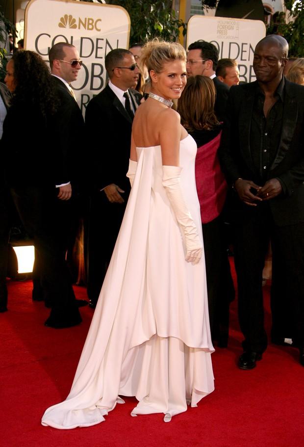 Luvas no Globo de Ouro - Heidi Klum em 2007 (Foto: Getty Images)