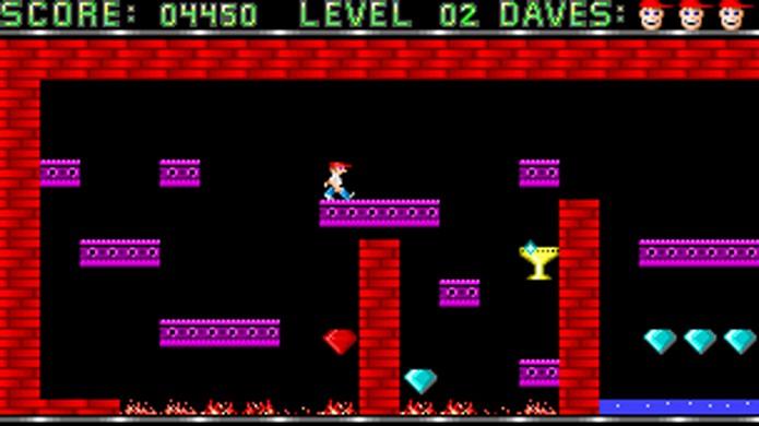 Ninguém imaginava na época como Dangerous Dave se metia em tanta confusão (Foto: MobyGames)