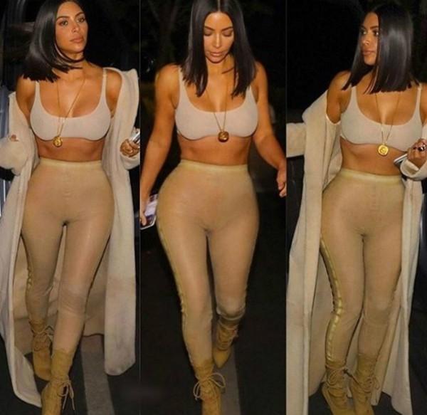 Montagem de Kim publicada por Khloé Kardashian (Foto: Reprodução Instagram)