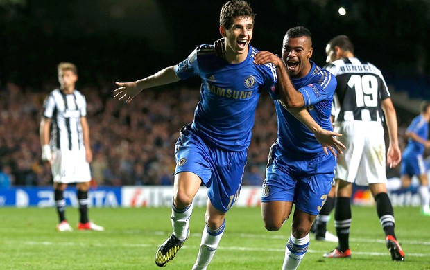 Oscar, Chelsea x Junventus (Foto: Ag&#234;ncia Reuters)