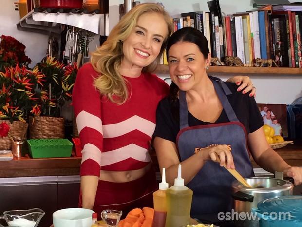 Angélica conhece casa da chef Janaina Rueda (Foto: Divulgação / Deborah Montenegro)