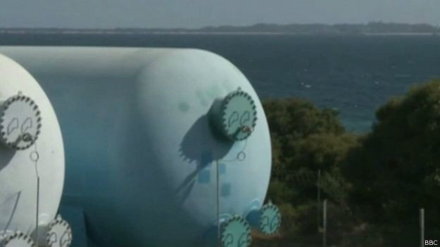 Grande parte do suprimento de água de Perth vem de plantas de dessalinização (Foto: BBC)