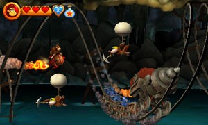 Fases com barris voadores estão de volta no game do Nintendo 3DS (Foto: Divulgação/Nintendo)