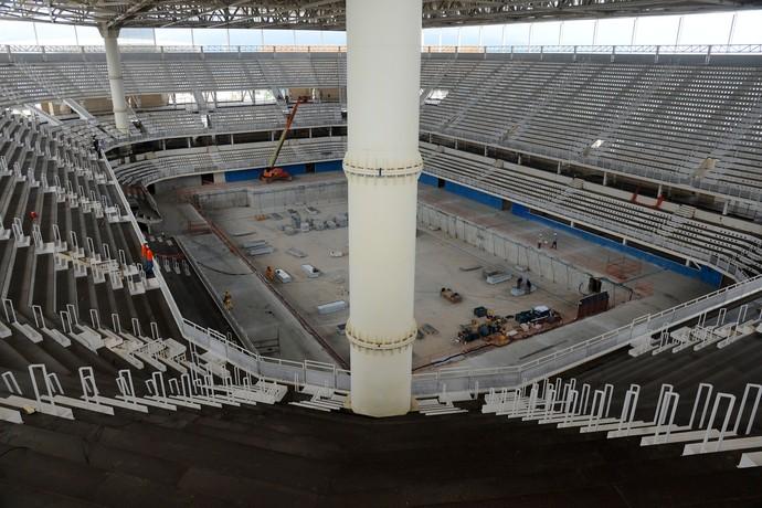 Estádio Aquático Parque Olímpico coluna (Foto: André Durão)