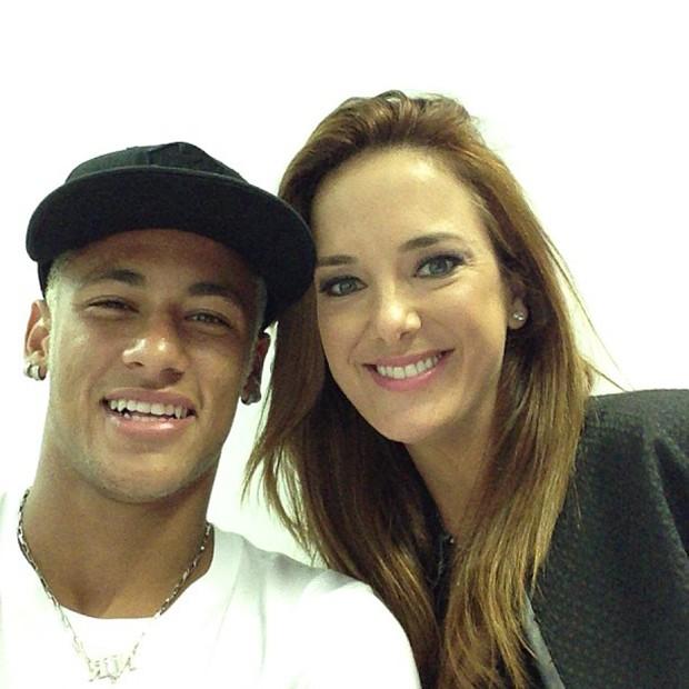 EGO - Neymar grava programa com Ticiane Pinheiro e a elogia   Gente ... 2fddbfd9ab1de