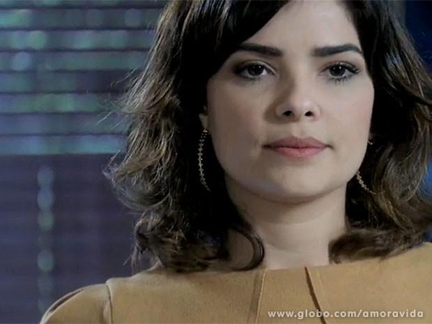 Aline vê Félix como um verdadeiro inimigo (Foto: Amor à Vida/TV Globo)