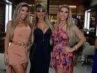 Ex-BBB Vanessa e irmãs Minerato vão a evento em São Paulo