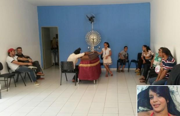Corpo de dançarina de funk Amanda Bueno morta no RJ é velado em Anápolis, Goiás 2 (Foto: Leonardo Gonçalves/TV Anhanguera)