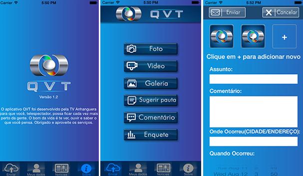 Atualize seu aplicativo QVT e fique mais pertinho da TV Anhanguera (Foto: TV Anhanguera)